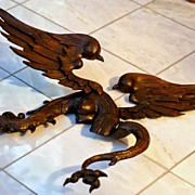 SOLD Amazing Antique French Carved Walnut Dragon with Breasts!!