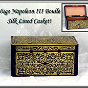 SOLD Magnificent Antique French Napoleon III Boulle Jewelry Desk Casket