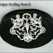 SOLD Neo-Classical Sterling Silver Brooch: Putto