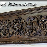 SALE PENDING HUGE Antique French Hand Carved Architectural Panel