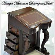 SALE Antique Miniature Davenport or Captain's Desk