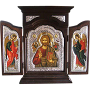 Greek Orthodox Tryptich depicting Jesus Christ