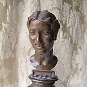 An Italian Bronze bust of a young girl signed by Vicenzo Gemito 1852-1929