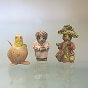 SOLD Three lovely Vienna Bronze figures  by Fritz Bermann, early 20th century