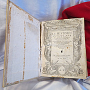 "Antique book ""Le Historie Vinitianae"" by Marco Antonio Sabellico, dated 1554"