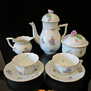 Herend Porcelain Coffee Service dated at 1939-1948