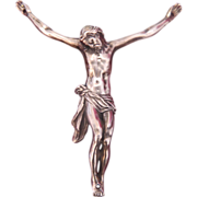 Antique silver figure of the crucified Christ, early 19th century