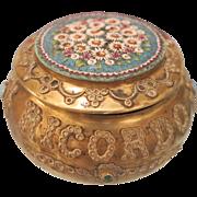 Antique Micro Mosaic box of the Grand Tour Era, 19th century