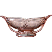 Art Deco pink Depression glass bowl, ca.1930