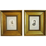 Pair of antique photos of Empress Sisi and her husband Emperor Franz Joseph I, 19th ...