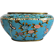 Antique Japanese Cloisonne Enamel  bowl, Meiji Period , late 19th century
