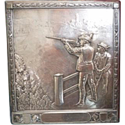 Antique box depicting a hunting scene, 19th century