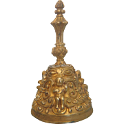Vienna gilt Bronze dinner bell, turn of 20th century