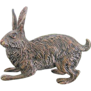 Vienna Bronze figure modelled and cast as a rabbit,signed Bergmann, early 20th century