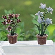 Two antique Vienna Bronze flower pots, early 20th century
