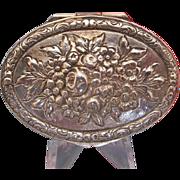 Antique silver 800 pill box, 19th century