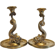 French Empire Gilt Bronze candle sticks