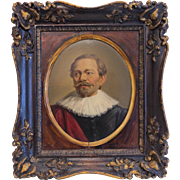Antique painting of an English noble man, 19th century