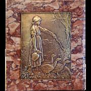 Bronze plaque of the Art Deco Era, ca. 1930