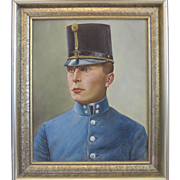 Antique painting of a military, oil on canvas, 19th century