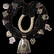 REDUCED Rare Vintage Don Lucas Thunderbird Treasure Necklace, 12 Charms, Kingman Turquoise, ..
