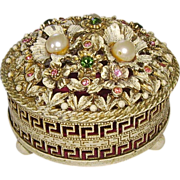 SOLD Florenza Jeweled Trinket Box