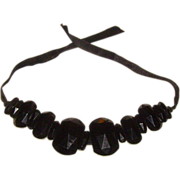 Victorian Whitby Jet Mourning Choker Nacklace