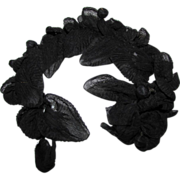 Victorian Black Silk Millinery Flowers Mourning