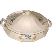 Early Bluebird China Covered Vegetable Dish Tureen