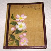 """Now is Christ Risen: Poems for Easter Tide"" Linen, Leather & Hand Painted Book"