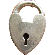 Vintage Sterling Heart Padlock Clasp For Your Puffy Heart Charm Bracelet