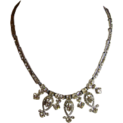Art Deco Clear Rhinestone Necklace