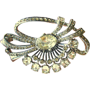 Sterling Eisenberg Original Clear Rhinestone Brooch