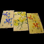 SOLD Three Vintage VERA Printed Linen Kitchen Towels