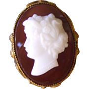 Fabulous Old Cameo Cocktail Ring