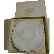 Set of 12 Madeira Organdy Cocktail Coasters