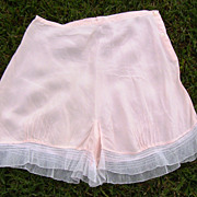 1920s Pink Silk Tap Pants Panties