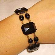 Victorian Black French Jet Mourning Bracelet