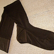 Pair of Vintage Dark Brown Kayser Seamed Nylon Hosiery Size 10