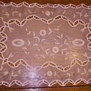 SALE Set of 8 Ivory Princess Net Lace Placemats