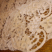 "Set of 11 6"" Round Needle Lace Coasters or Small Doilies"