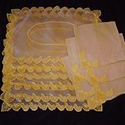 Vintage MARGHAB Napkin & Placemat 12 Pieces SHELLS
