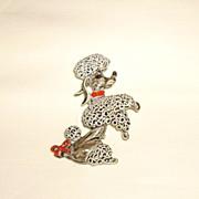 GERRY'S Vintage Enamel Poodle Pin
