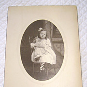 SOLD Victorian Photograph of Fancy Little Girl with Her Doll