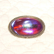 Small Cabochon Jelly Opal or Dragon's Breath Pin