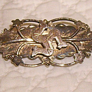 Aesthetic English Sterling Silver Brooch w/ Isle of Man Symbol