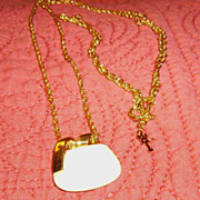 SALE Trifari Mod Cream Lucite Necklace