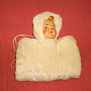 Vintage Child's Muff with Doll Face