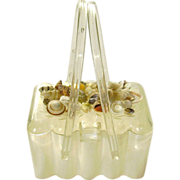 Vintage Theresa Bag Co. Sea Shell Lucite Purse