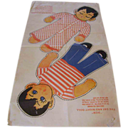 """SOLD Vintage Uncut Cloth """"Don"""" Day & Night Doll"""